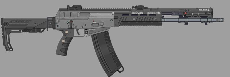 Shadowrun: Ak-97 by Valgryn