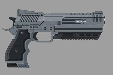 Shadowrun: Ares Predator 5 by Valgryn