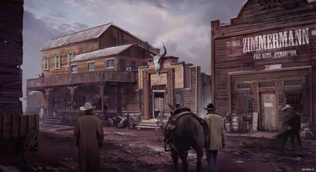 Cowboy Town by Jiahow