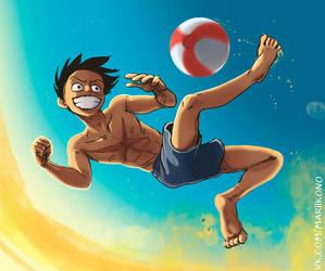 Luffy Summer by Masha-Ko