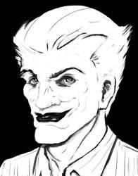 Joker black and white by Bat-Dan