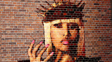 Nicki Minaj- brickwall Spray Paint by EZENT