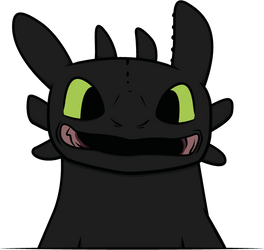 Smiling Toothless by KachiWho