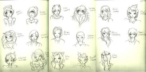 Doodles by LavenderYouko