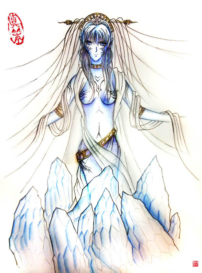 Shiva the ice queen by blackbeat
