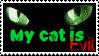 My Cat is Evil. by Hurricane-Hannah