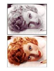 i Love Lucy B4 and After Color by xgnyc