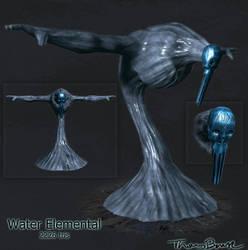 Silvershine Water elemental by Sabotender