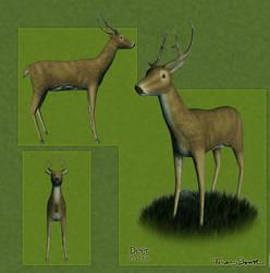 Silvershine Deer by Sabotender