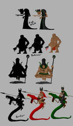 Silhouettes 02 by Sabotender