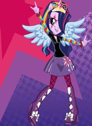 Twilight Sparkle eg rainbow rocks by lilymouse385