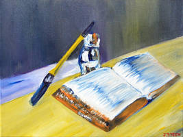 Still Life Vase Brush Bible by GMAC06