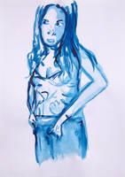 Blue Woman Series N. 1 by GMAC06