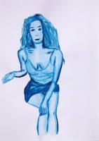 Blue Woman Series N. 5 by GMAC06