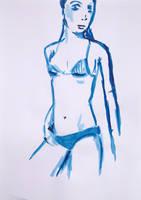 Blue Woman Series N. 6 by GMAC06