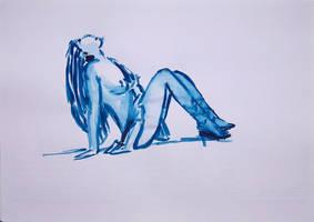 Blue Woman Series N. 7 by GMAC06