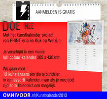 Kunstkalender Kunstenaarswerving flyer by GMAC06