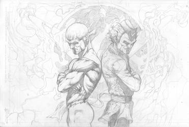Flash vs. Boomerang Commish by jeffreyedwards