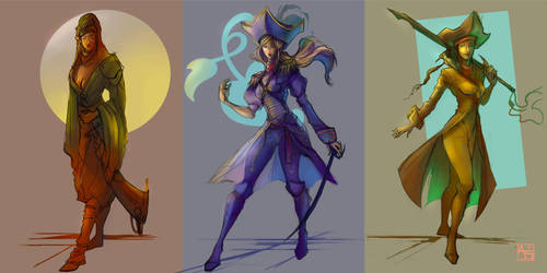 Set of Quick Colour Sketches by Avasariah