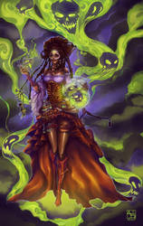 Voodoo Priestess Calypso by Avasariah