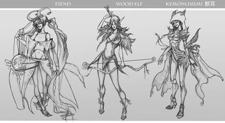 Character Sketches vol.1 by Avasariah