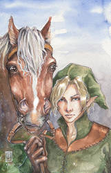Link and Epona by raspberryMCMLXXXIV