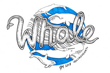 12 Whale - Inktober 2018 by anyroad