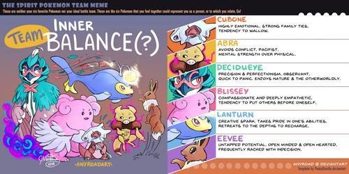 Pokemon Spirit Team by anyroad