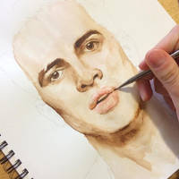 Brendon Urie - watercolor by notapanicfan