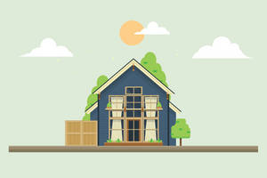 Flat Vector house by Ozantliuky