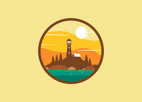 Lighthouse Simple Drawing1 by Ozantliuky