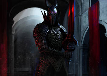 Black Knight - Dark Souls Fan Art by VictorGarciapq