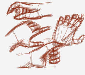 Sketches of hands from WYSP by turquoiserainlilies