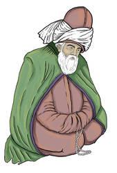 Mevlana Celaleddin Rumi by canyuzgec