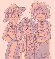 Adventure family! by iLee-Font