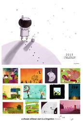 A dream without stars, 2013 calendar by nicolas-gouny-art