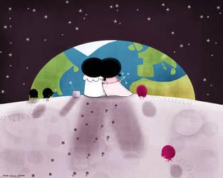 Pierrot loves Pierrette by nicolas-gouny-art