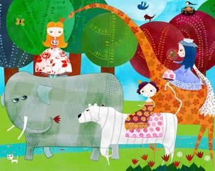 The princesses procession by nicolas-gouny-art
