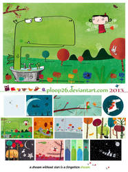 Dragons and other magical things, 2013 calendar by nicolas-gouny-art