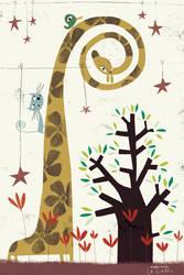 The giraffe by nicolas-gouny-art