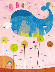 The whole whale world by nicolas-gouny-art