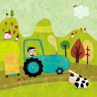 Little Leo and his tractor by nicolas-gouny-art