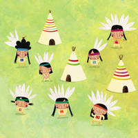 The indians dance by nicolas-gouny-art