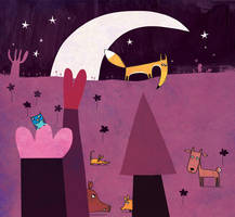 Violet as night by nicolas-gouny-art