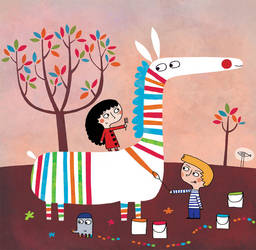 The colored zebra by nicolas-gouny-art