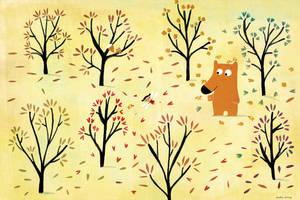 The bear and the fairy by nicolas-gouny-art