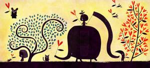 An elephant made for love by nicolas-gouny-art