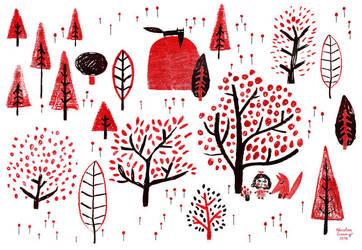 Le-printemps-fleurit-rouge by nicolas-gouny-art