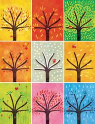 Nine trees by nicolas-gouny-art