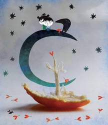 Alone on the moon by nicolas-gouny-art